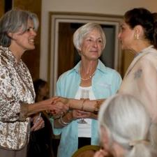 Belinda Brown, NZ's Deputy High Commissioner, Patsy Miller, current NZWA President, Neena Dugal, FIWAL President