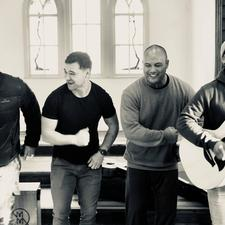 In rehearsal - all photos courtesy of Modern Maori Quartet
